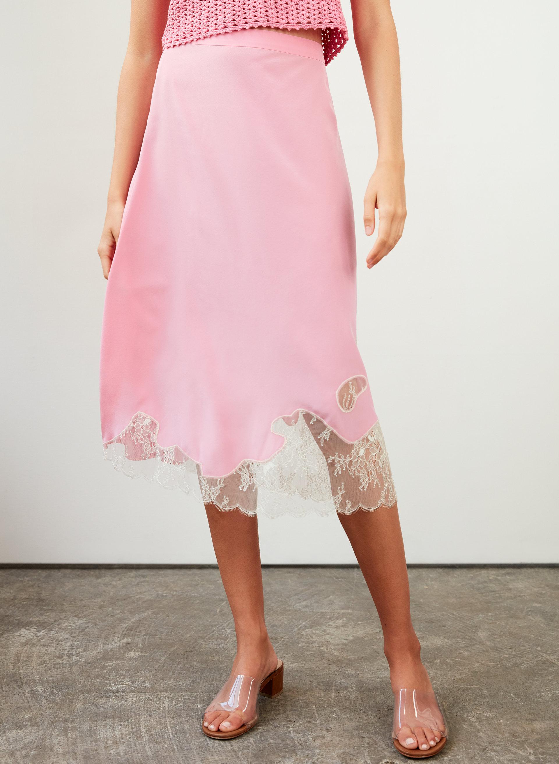 ebe1aa366c81 JESSIME SKIRT - Silk slip skirt. Styled with cherita knit top ...
