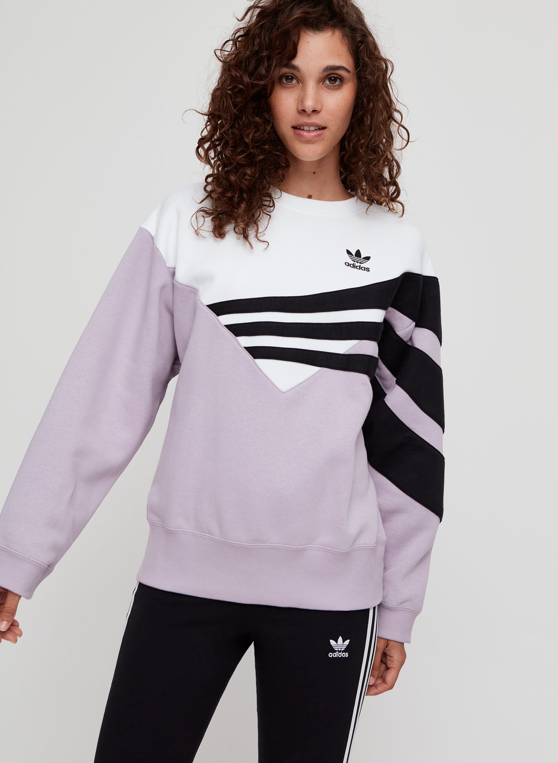 ed49d8ee adidas sweater Retro-inspired crewneck sweatshirt