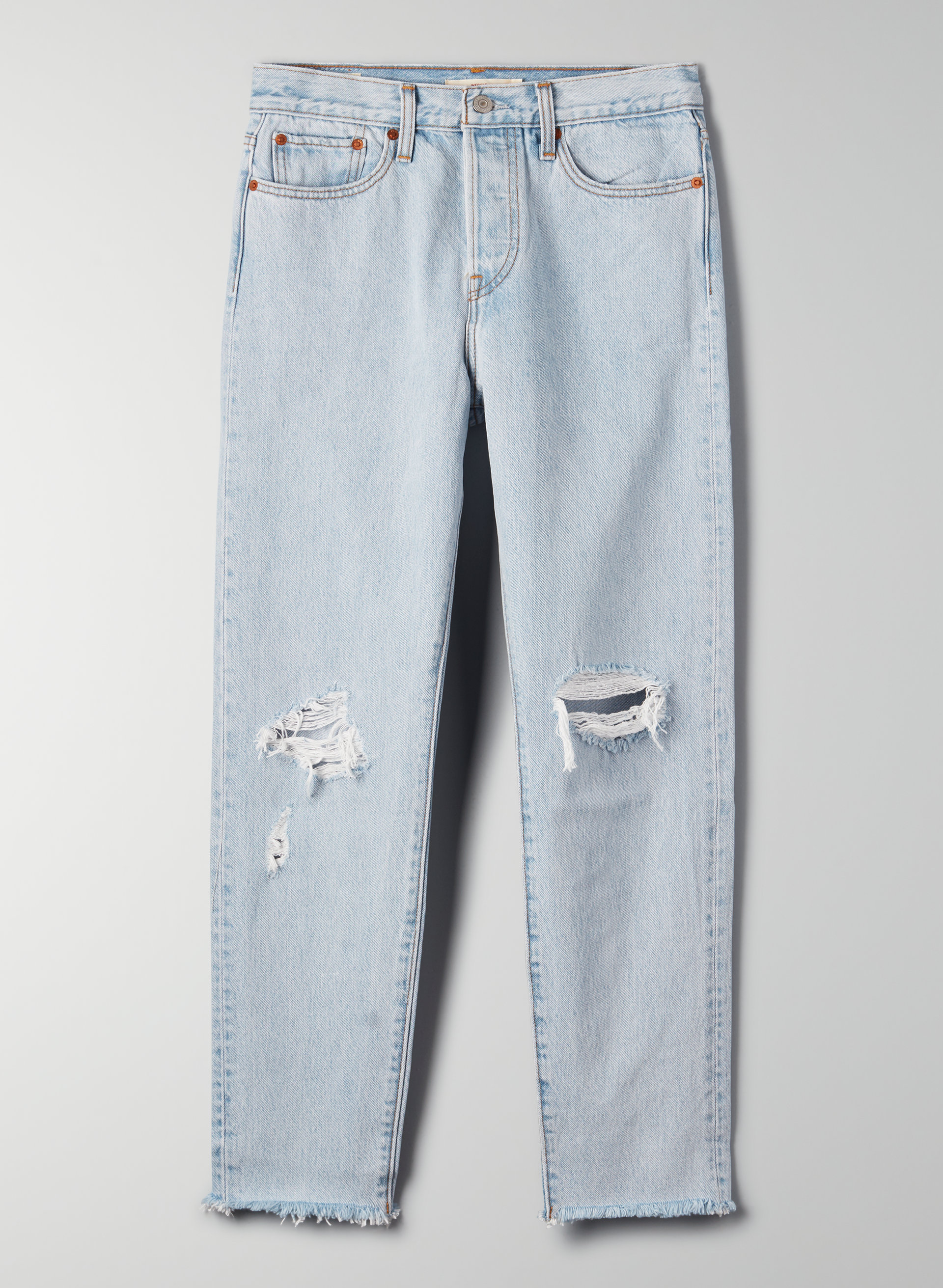 c6599b3251f021 WEDGIE ICON - Cropped, high-waisted ripped jean