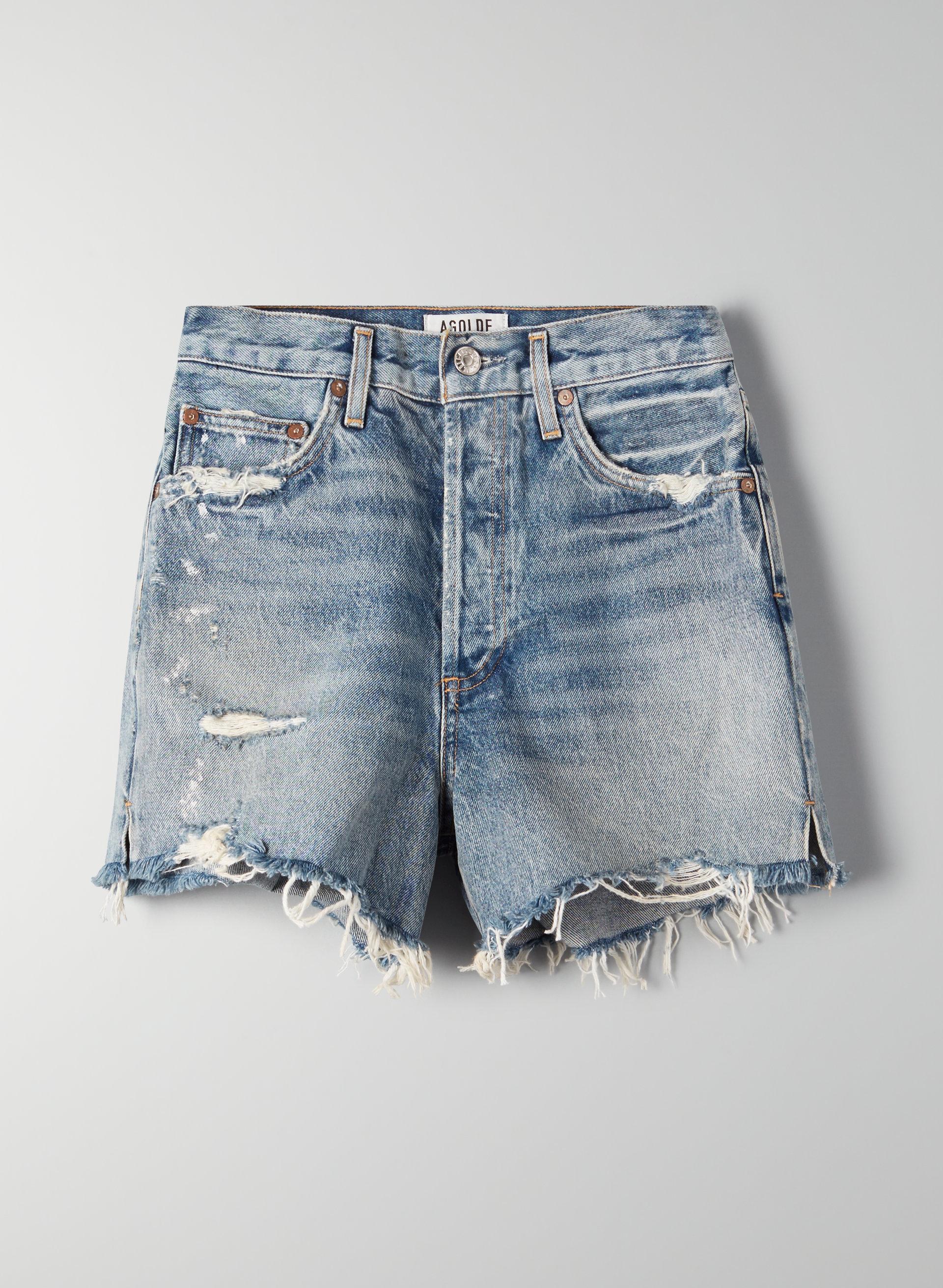 ae37ba8fbf DEE RICCOCHET - High-waisted, ripped denim shorts