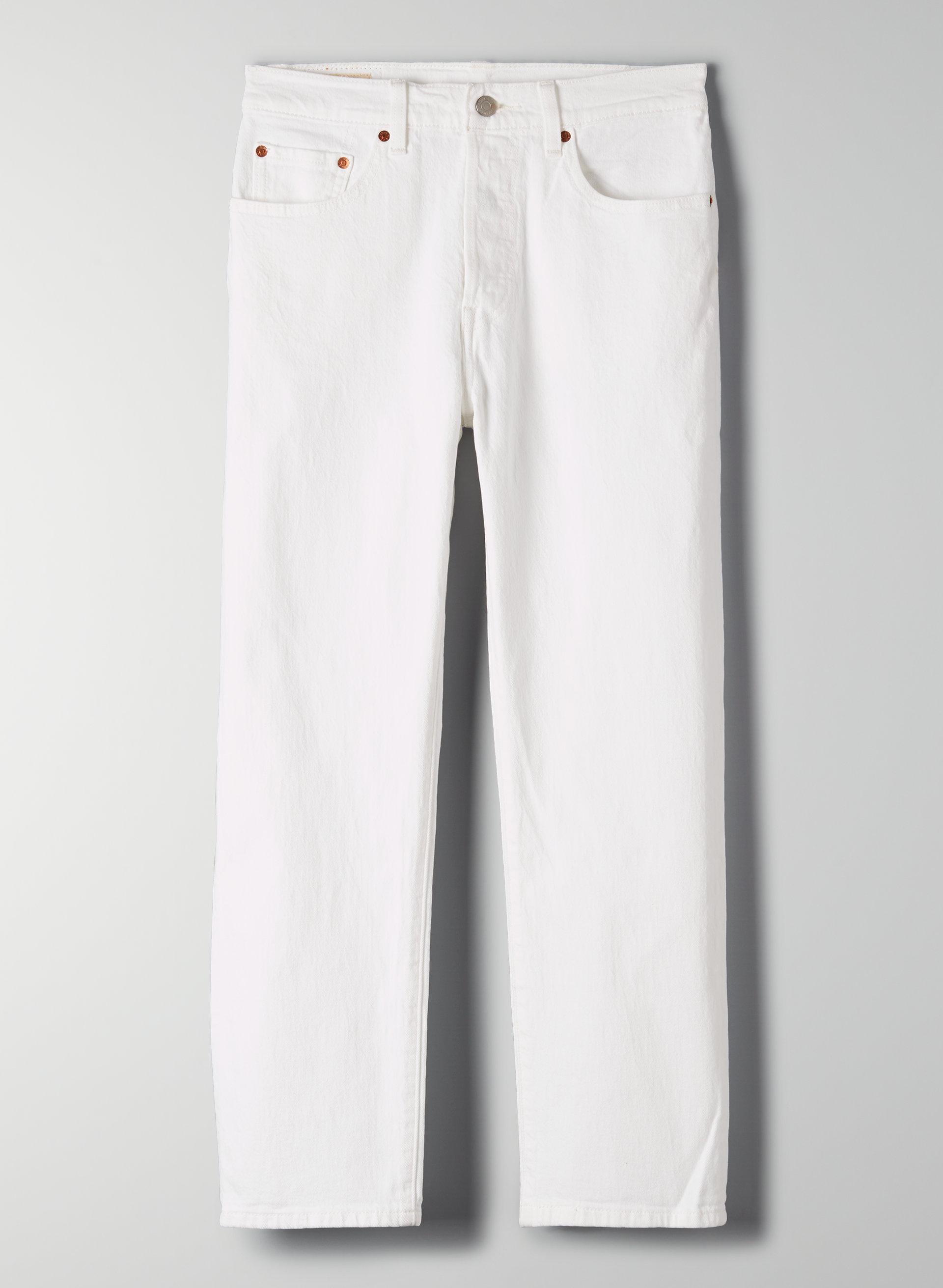 9e462ca1eb6 501 CROP - Cropped, straight-leg white jeans