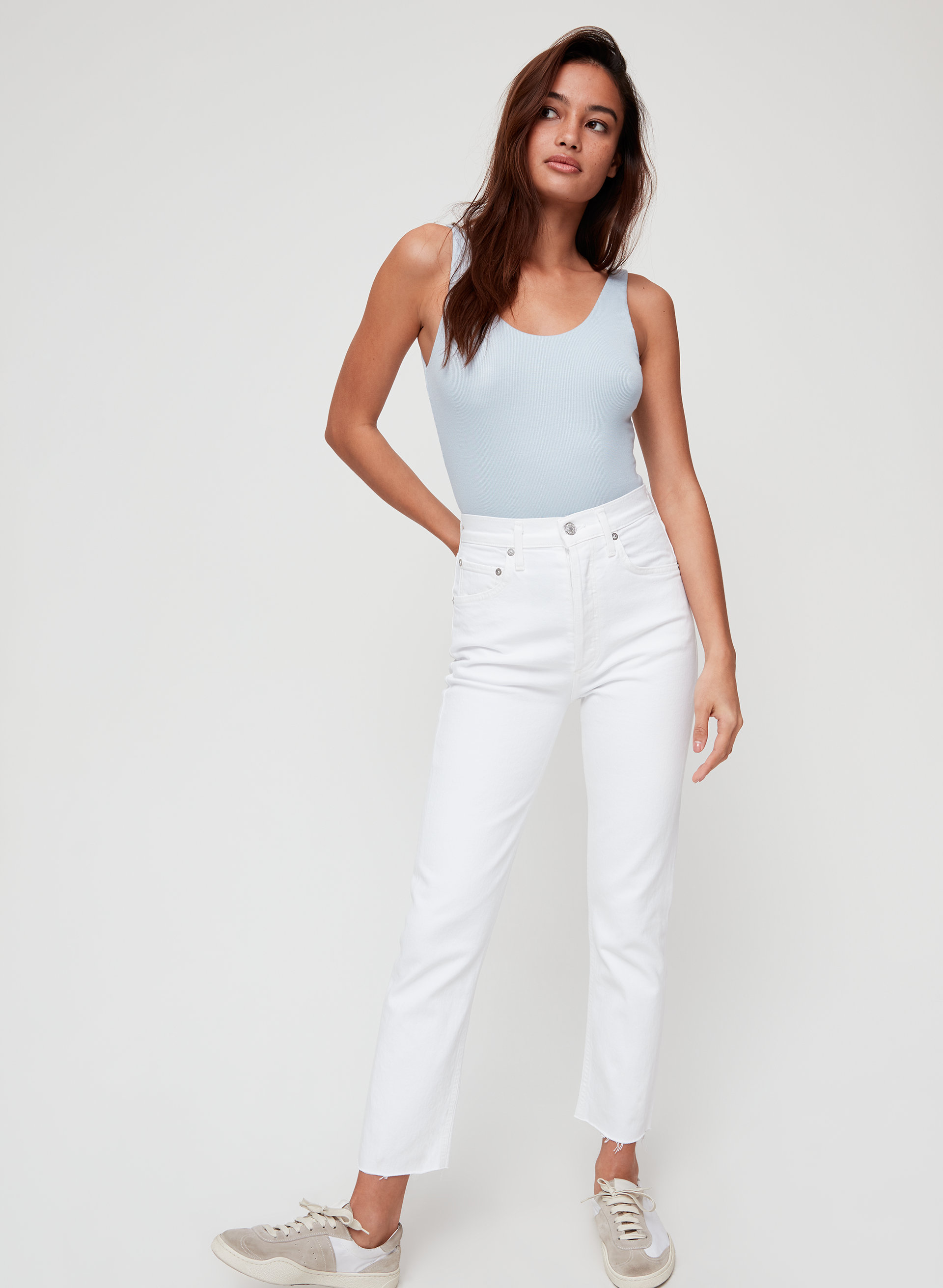 8b066aca1 riley High-waisted, straight-leg jean