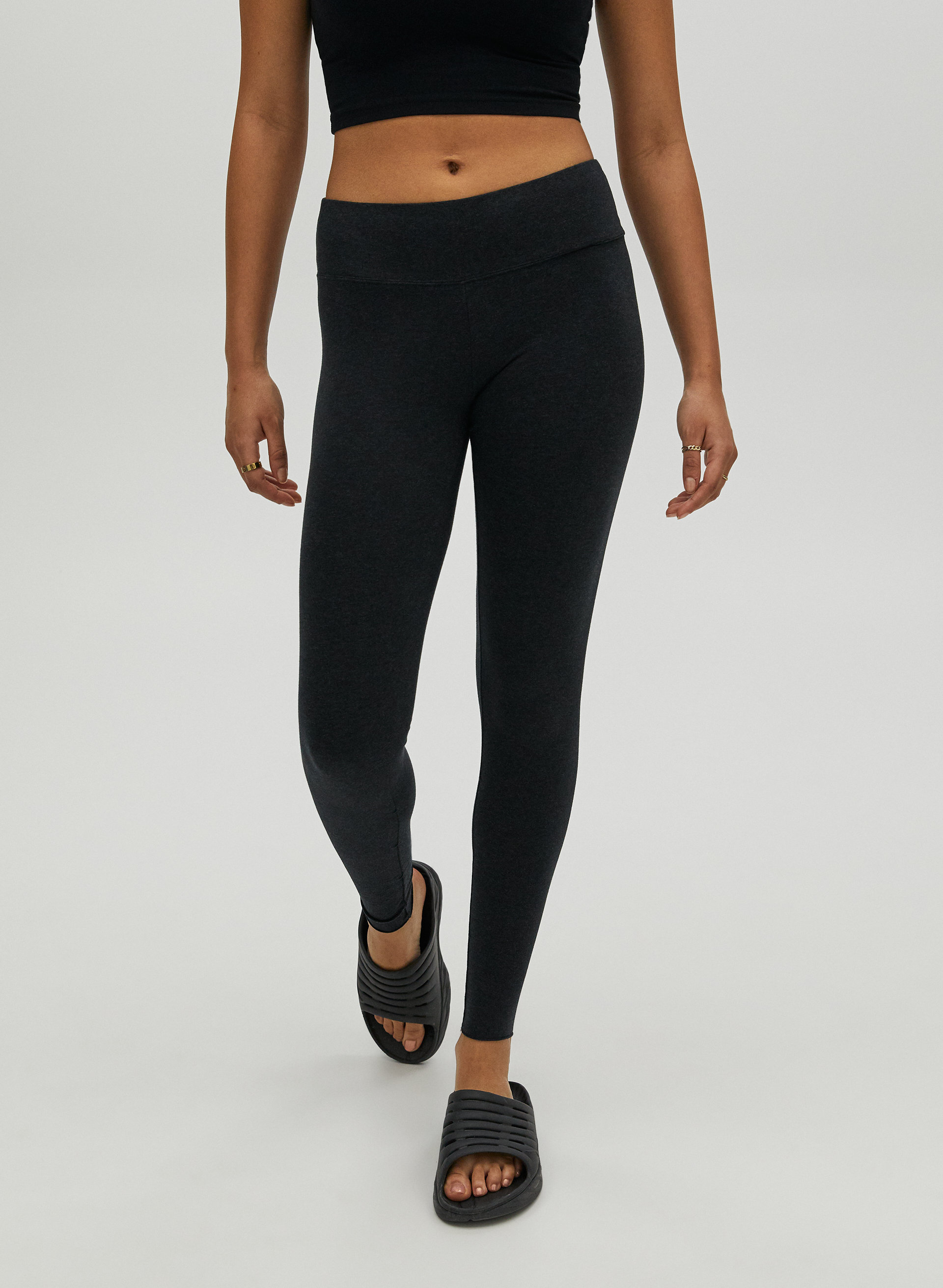 Full Length Cotton Leggings Super Soft All Sizes Black Ankle Length Tight Fitted