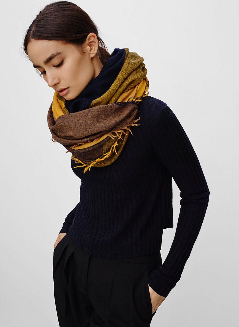 COLOUR BLOCK BLANKET SCARF - Colourblock wool blanket scarf