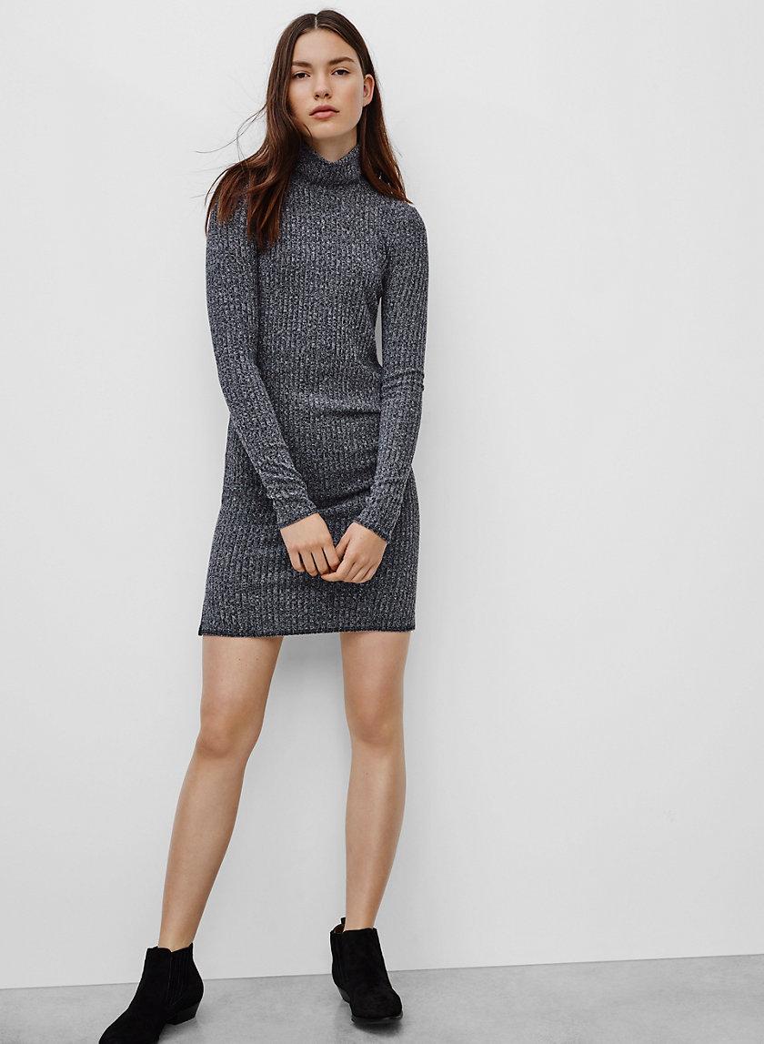 MARIEL DRESS - Long-sleeve, ribbed bodycon dress