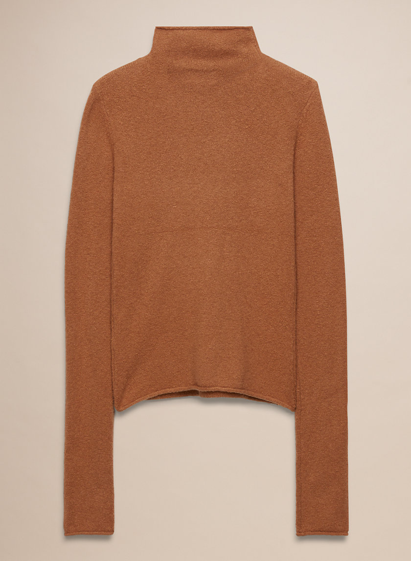 DARLING SWEATER - Fitted, mock-neck sweater