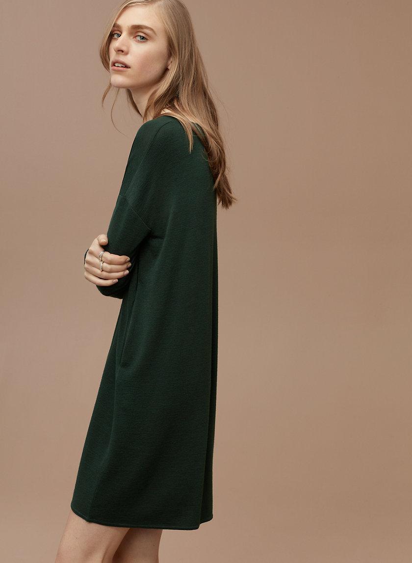 GAIL DRESS - Long-sleeve, V-neck dress