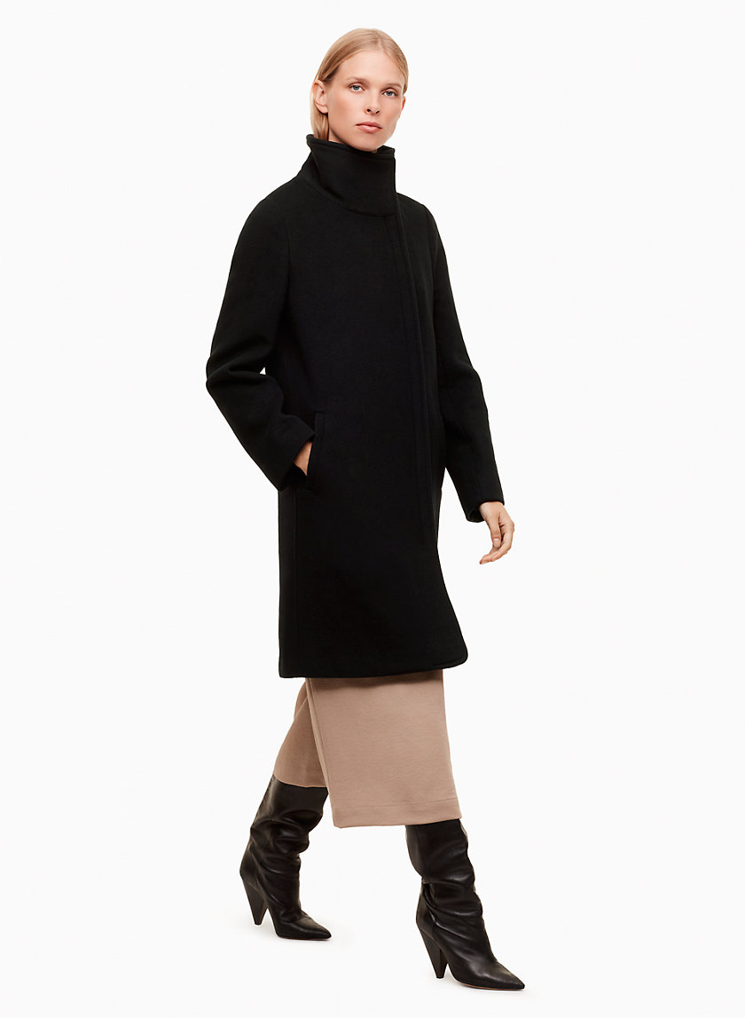 COBIE COAT - Mid-length, wool-cashmere blend coat