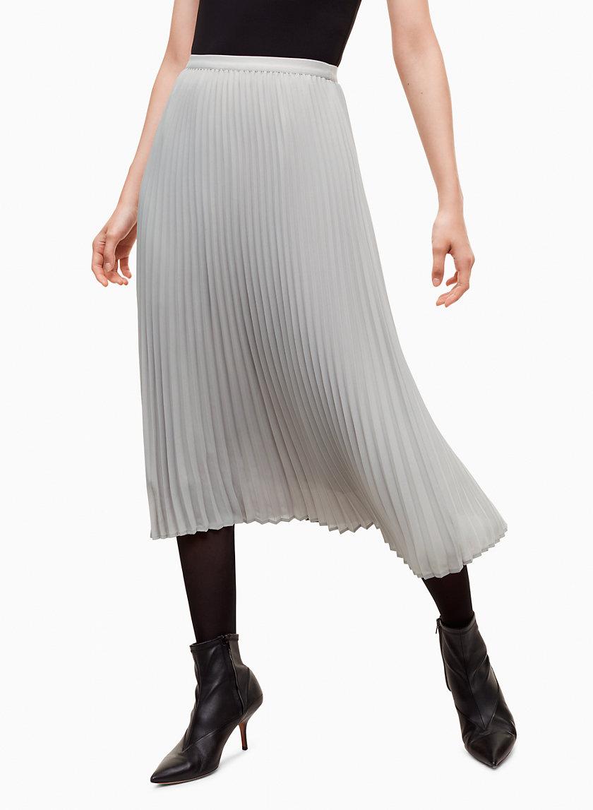 JUDE SKIRT - Pleated midi skirt