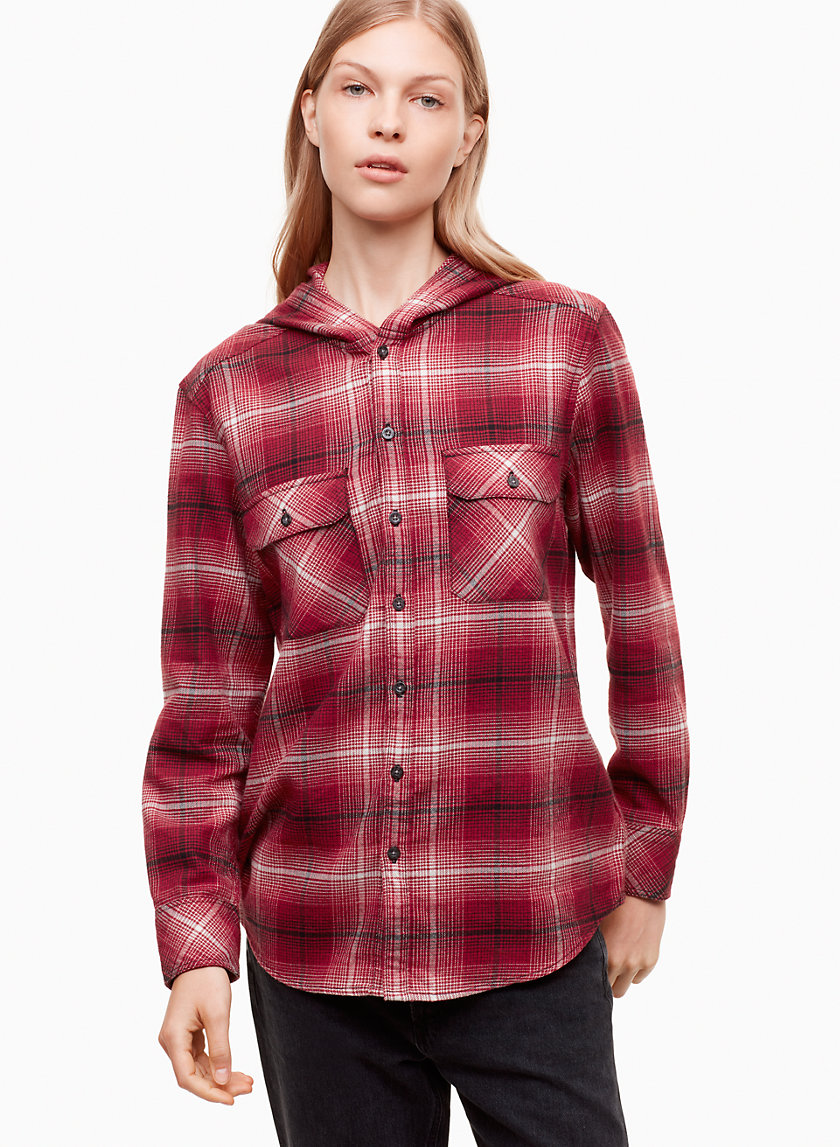 HIDALGO SHIRT - Button-down flannel with hood