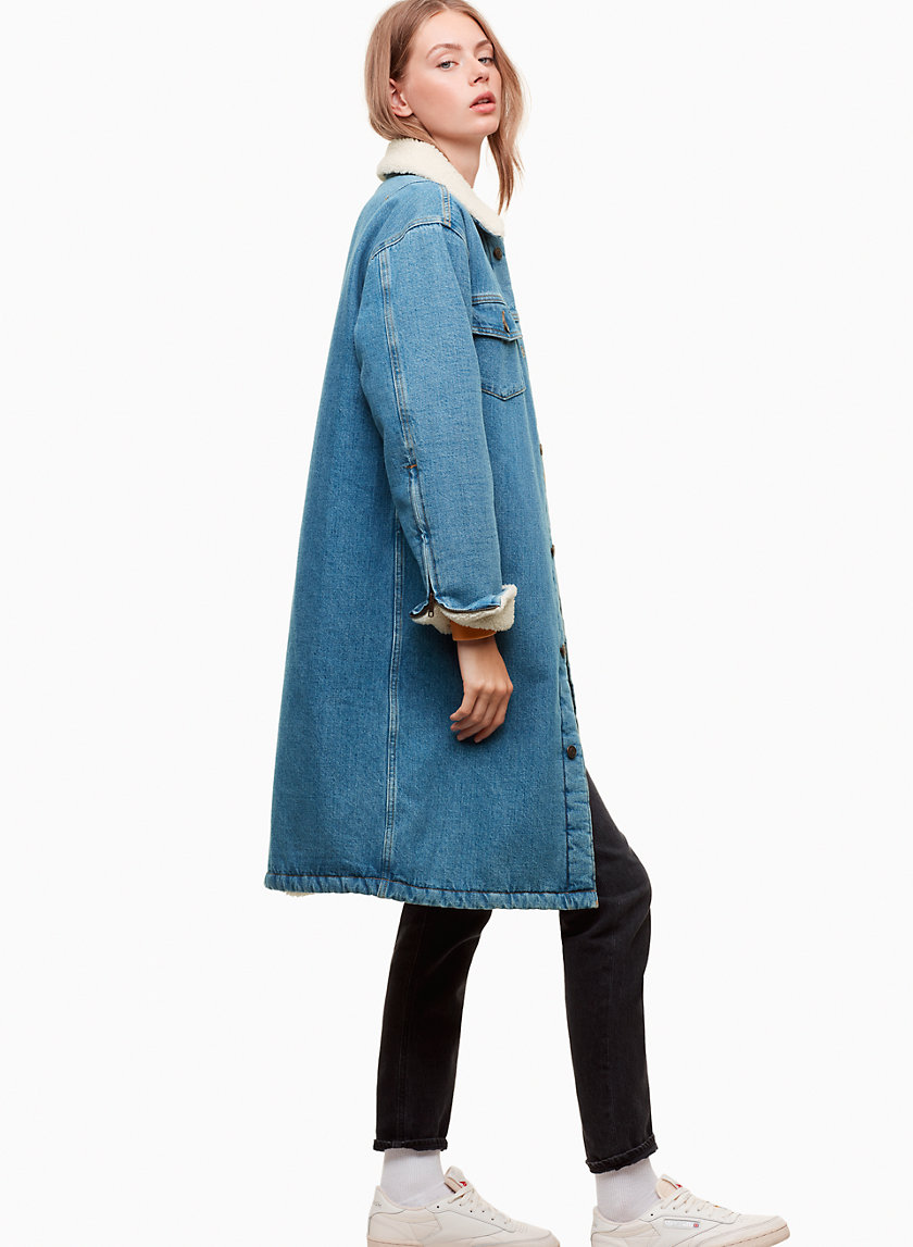 Tna MURAD DENIM COAT | Aritzia