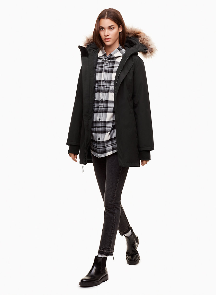 HAVEN VEGAN PARKA - Mid-length, vegan parka
