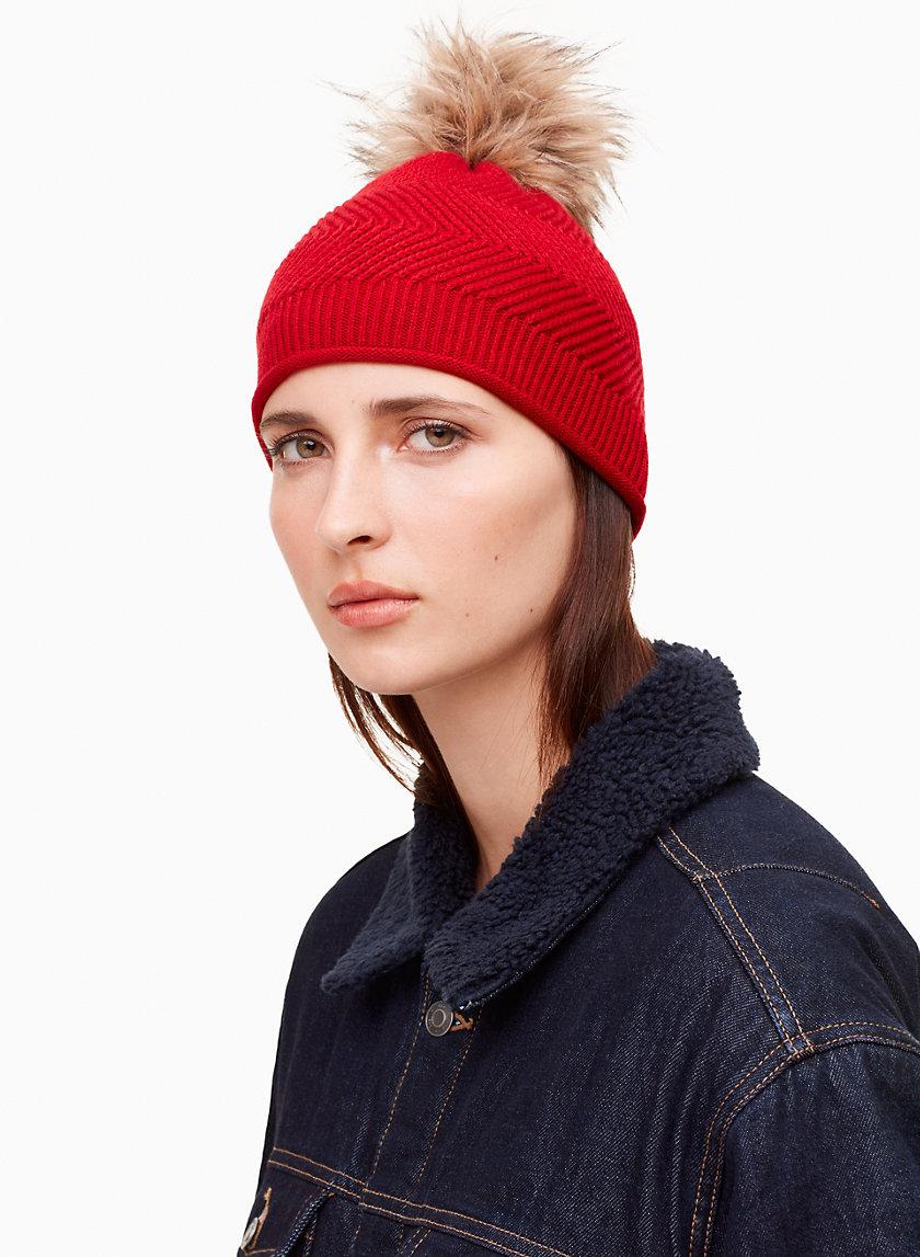 GLACIAL SKULLY HAT - Pom, knit beanie