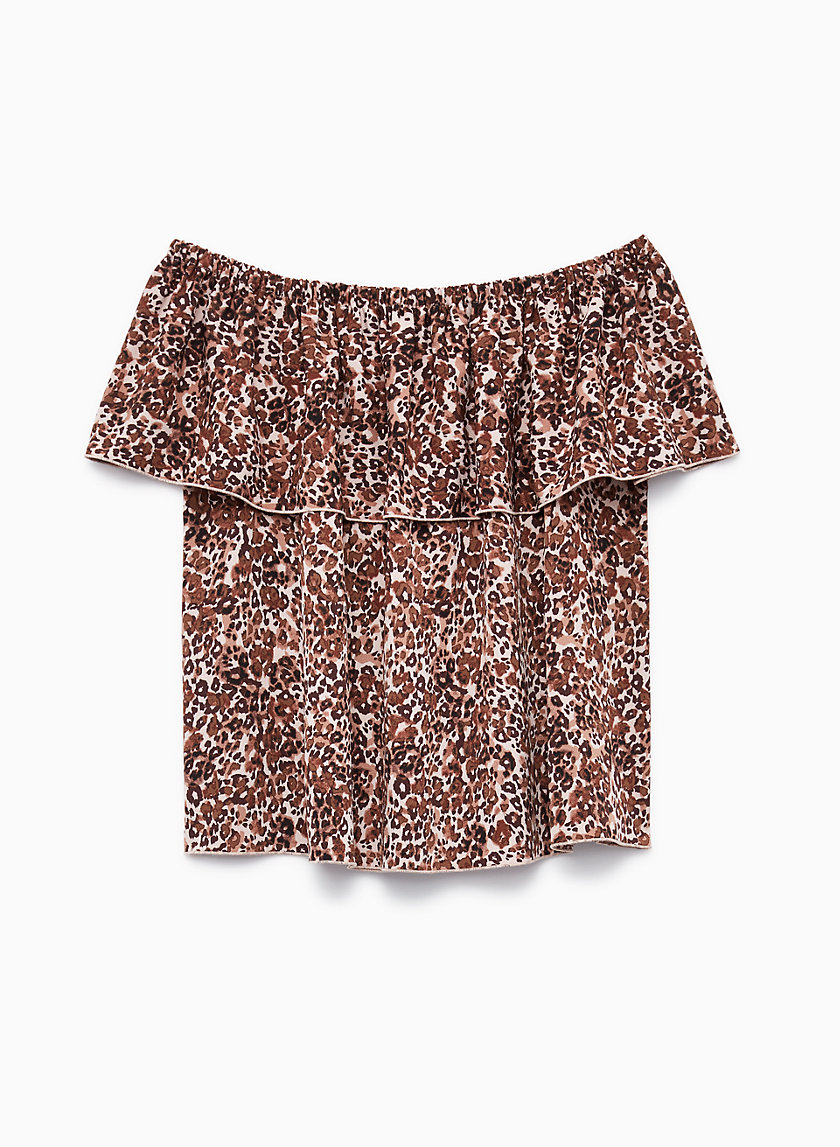 PROMENER BLOUSE - Off-the-shoulder, printed blouse