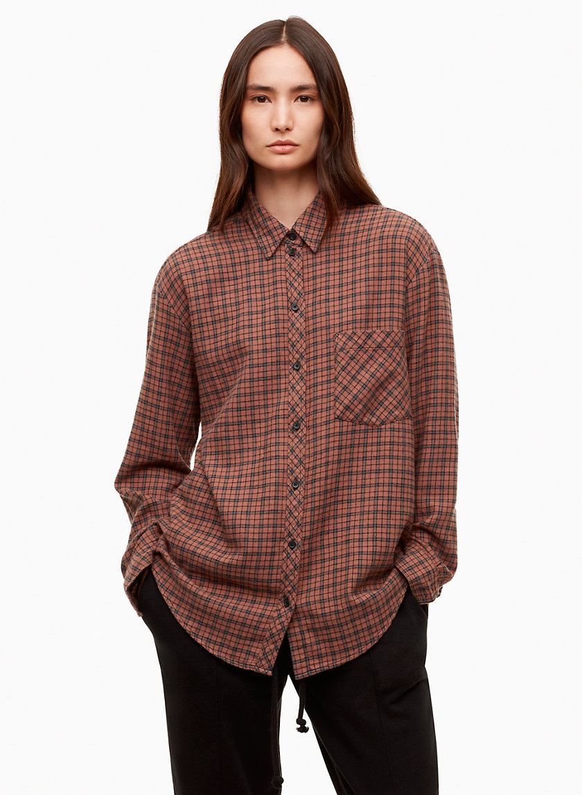 DAPHNE SHIRT - Plaid boyfriend flannel