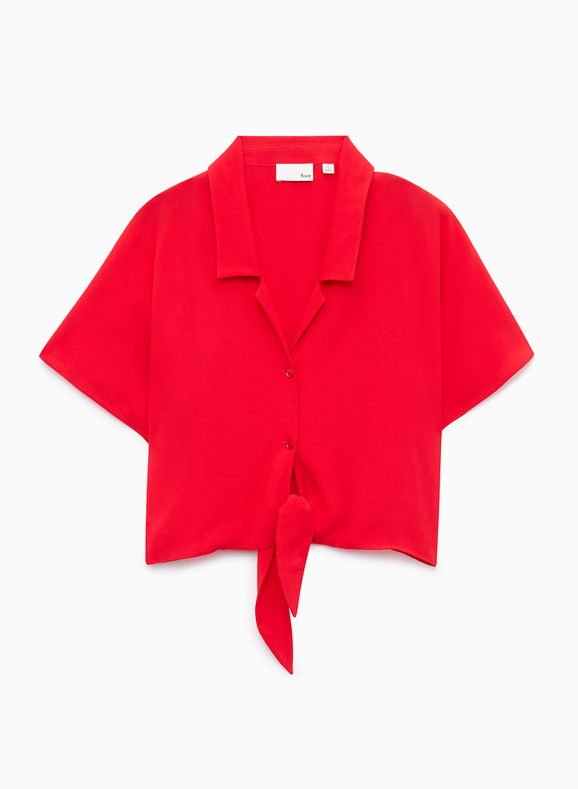 Wilfred Free THE TIE-FRONT BLOUSE | Aritzia