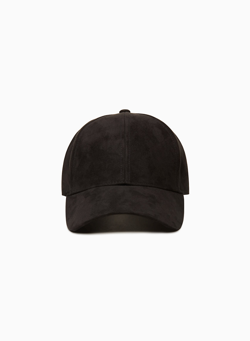 EMESA HAT - Faux suede, strapback baseball cap