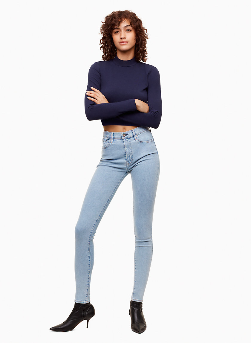 Levis Made & Crafted SILVER HIGH SKINNY   Aritzia