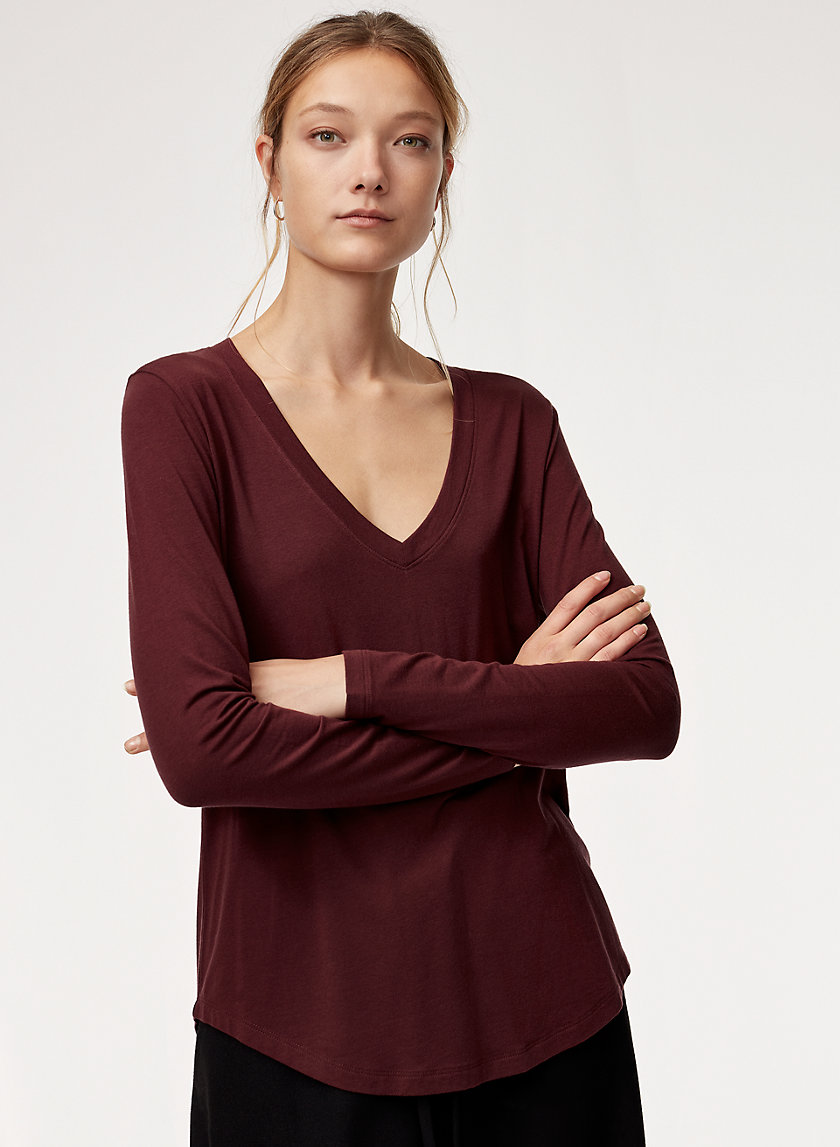 The Group by Babaton FOUNDATION V-NECK LS | Aritzia
