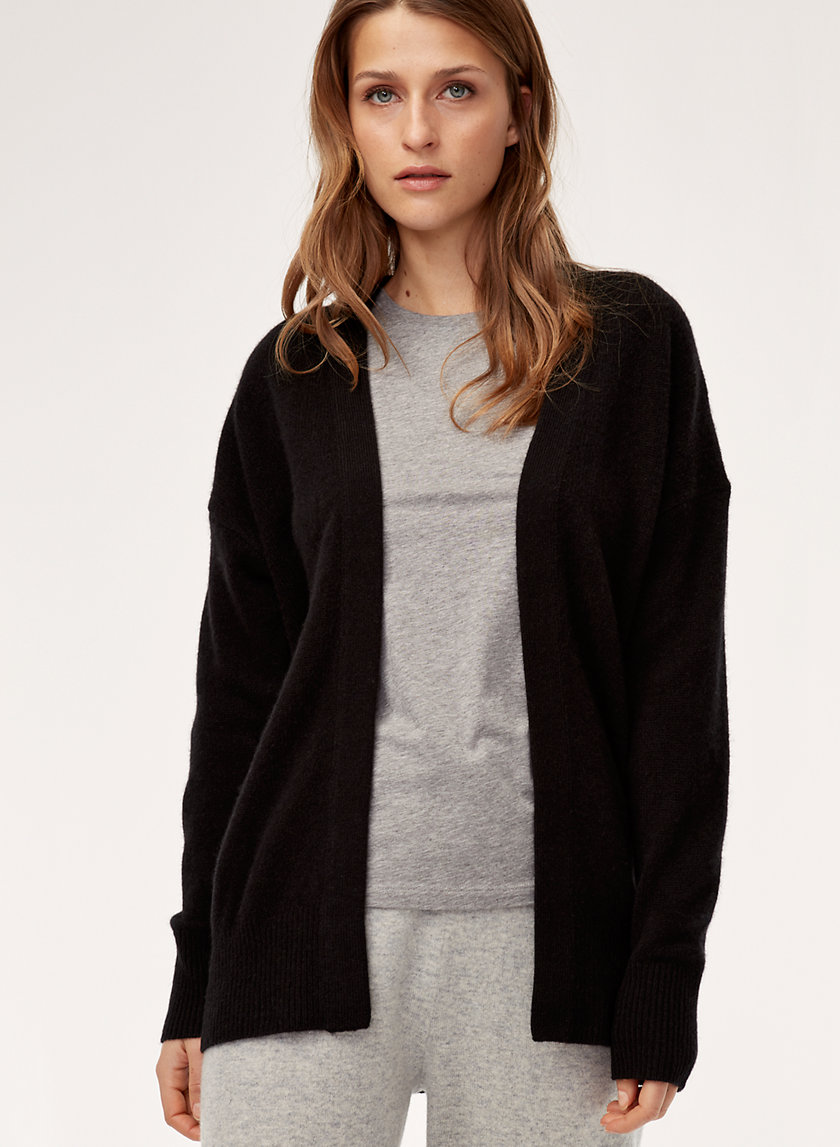 LUXE CASHMERE CARDIGAN - Relaxed cashmere cardigan