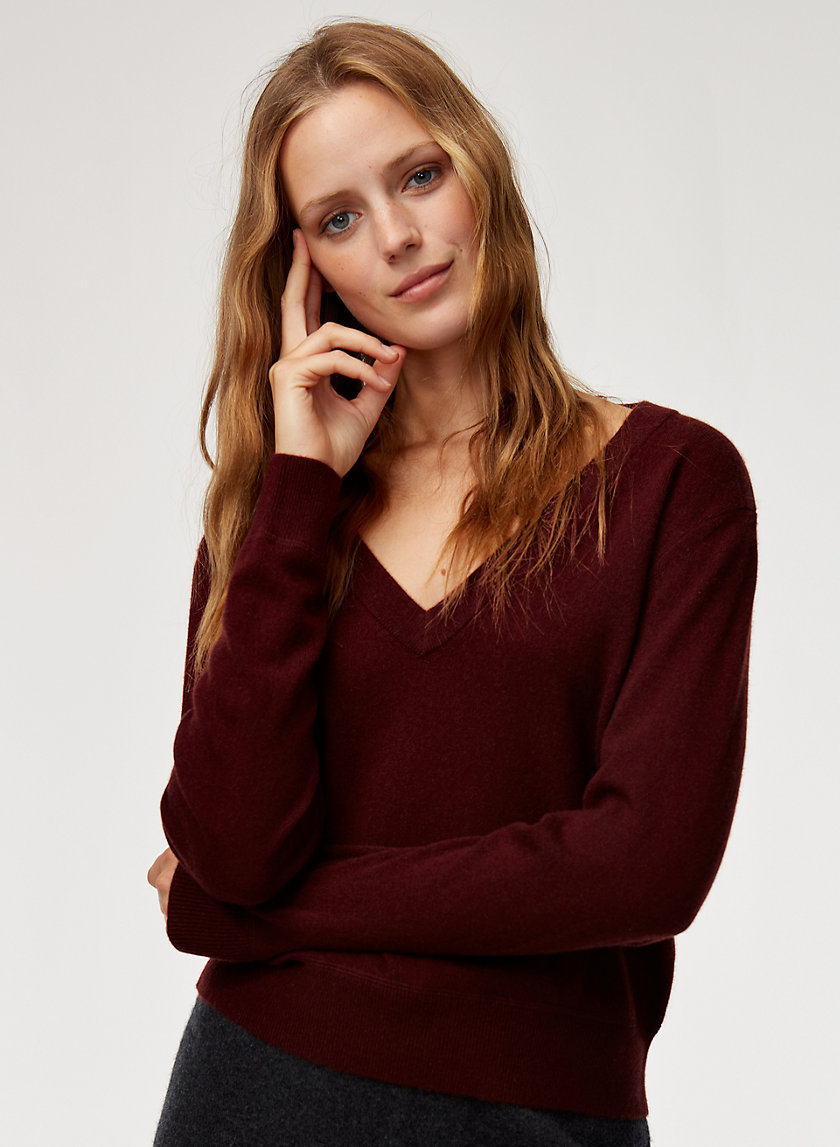 The Group by Babaton LUXE CASHMERE DEEP V | Aritzia