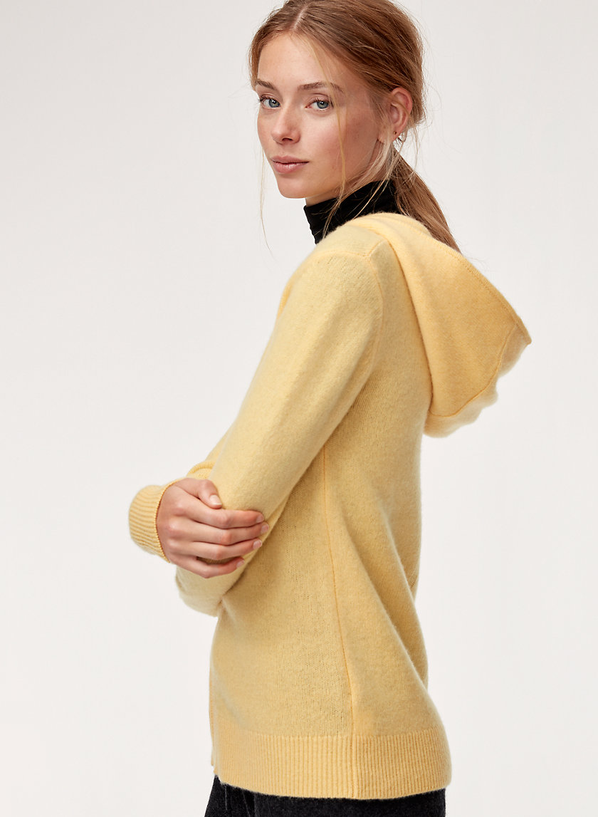 CASHMERE ZIP LONG - Cashmere zip-up hoodie
