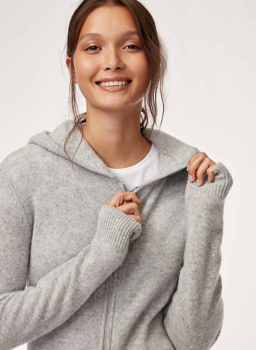 The Group by Babaton CASHMERE ZIP LONG | Aritzia