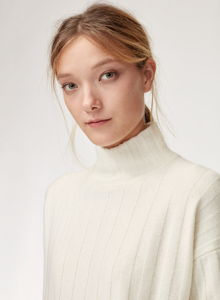 SCULLY TURTLENECK - Cashmere-blend, wide-rib turtleneck sweater