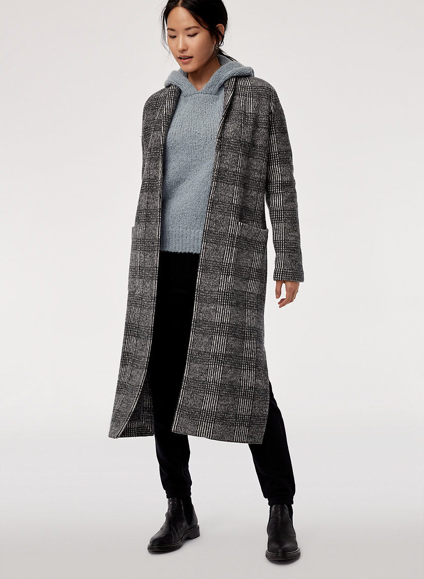 GORNICK JACKET - Long, merino-wool cardigan jacket