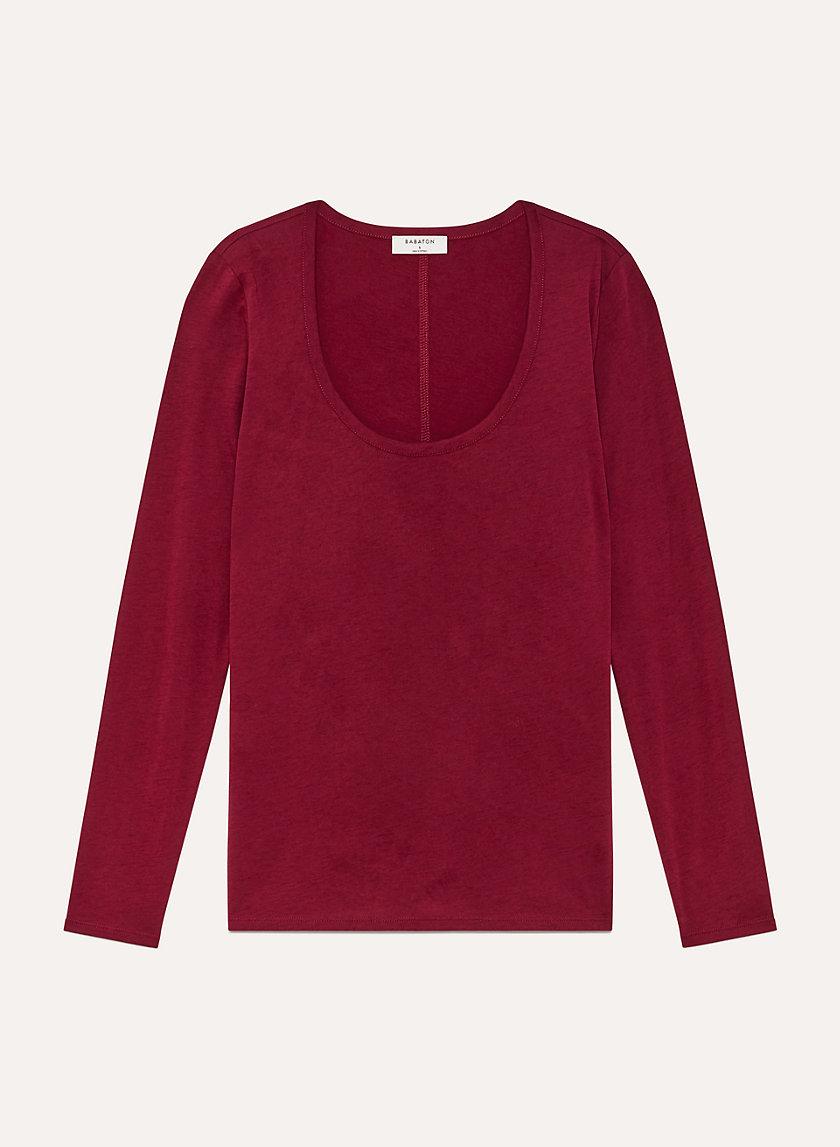 DONNY LONGSLEEVE - Long-sleeve, cotton-cashmere t-shirt