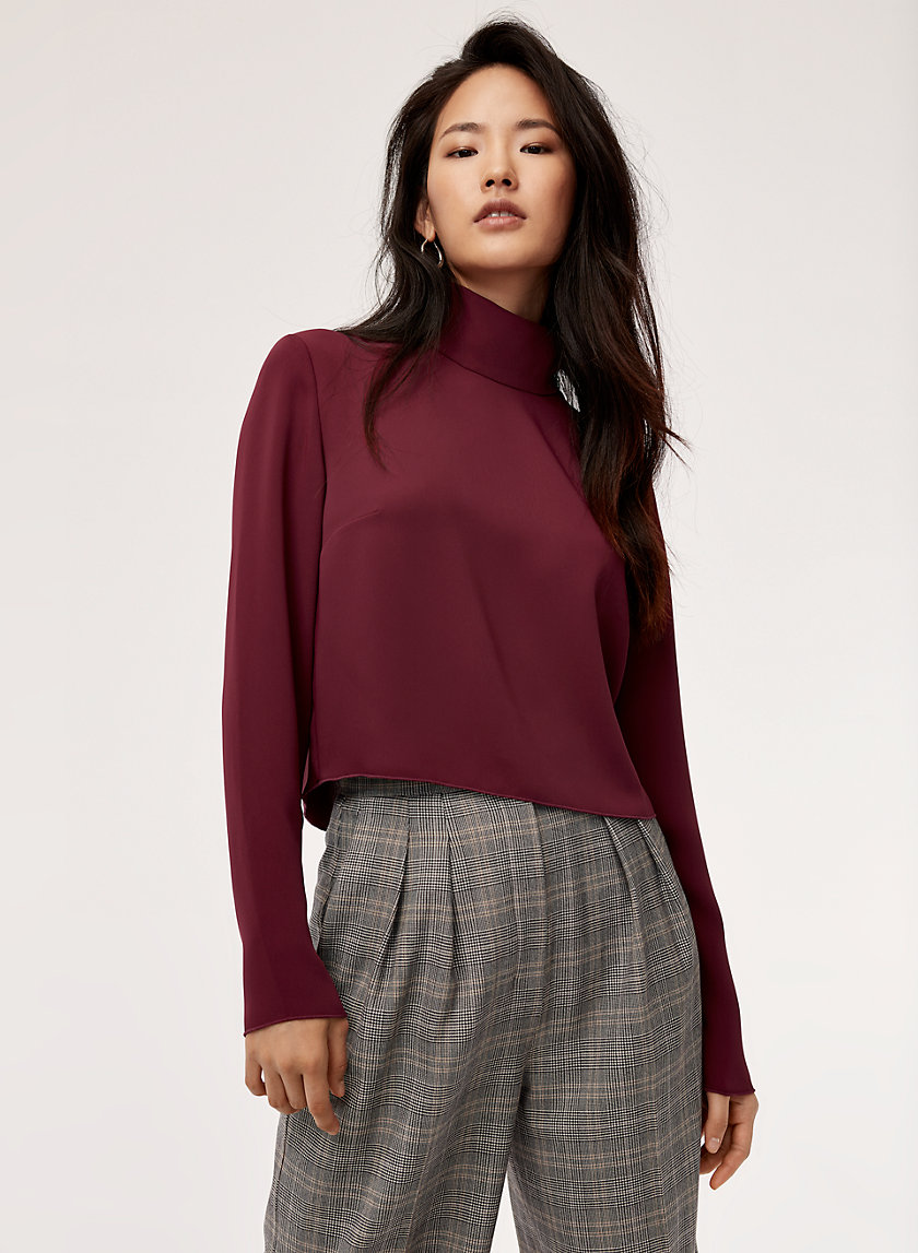 REMBRANDT BLOUSE - Cropped, turtleneck blouse