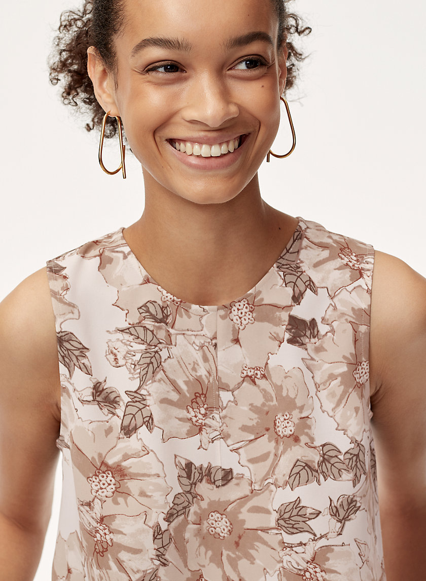 WIELAND BLOUSE - Sleeveless, floral blouse
