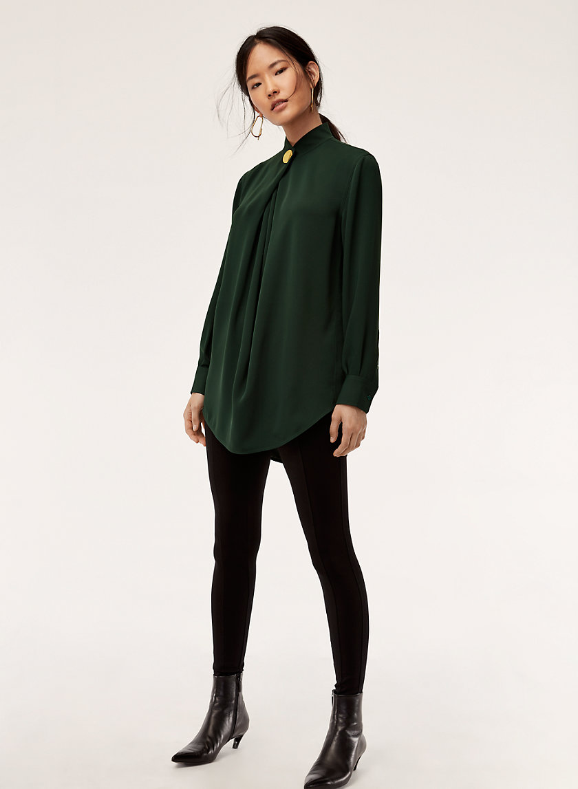 HOWIE BLOUSE - Buttoned-collar blouse