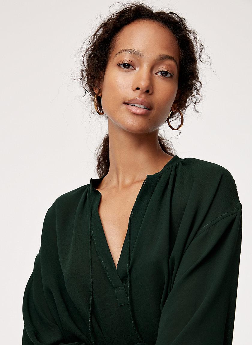 DESI BLOUSE - V-neck chiffon blouse