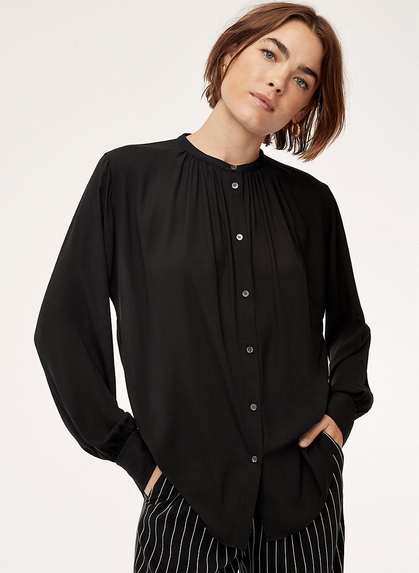GENE BLOUSE - Silky, button-down blouse