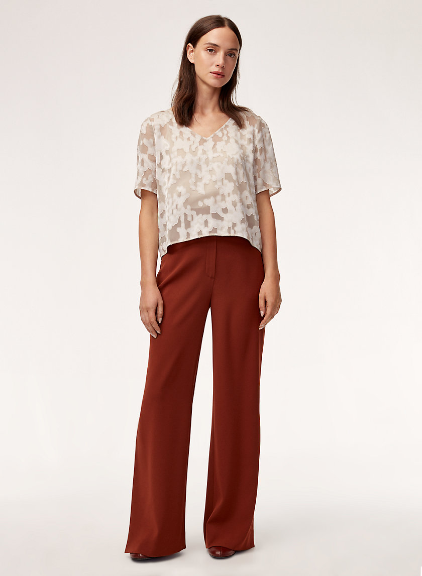 RANDY BLOUSE - Short-sleeve, jacquard top
