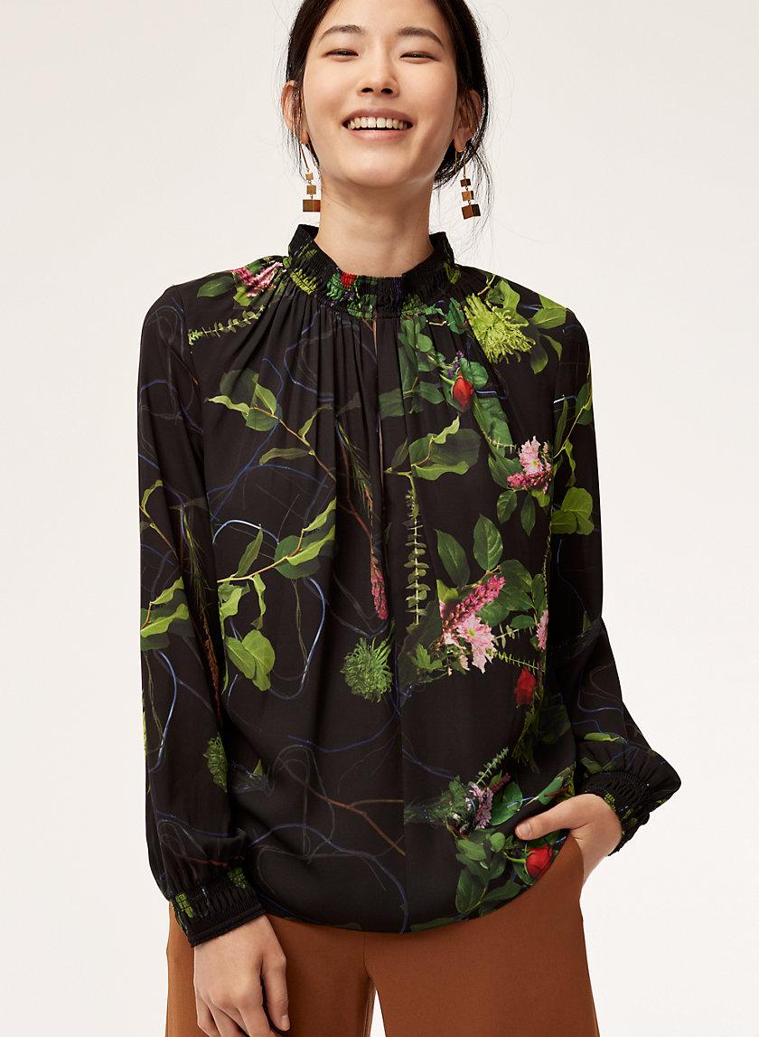 HARRY BLOUSE - High-neck floral blouse