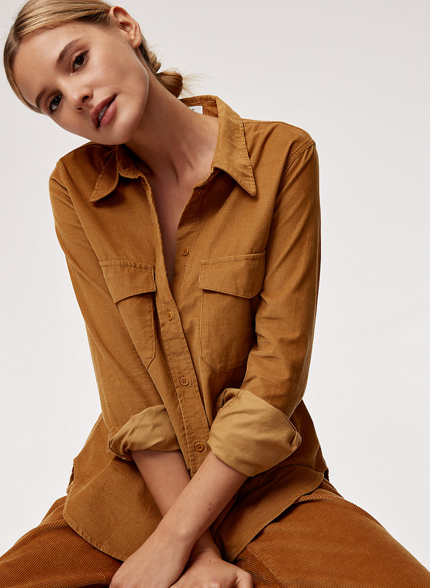 HARRISON SHIRT - Button-down corduroy shirt