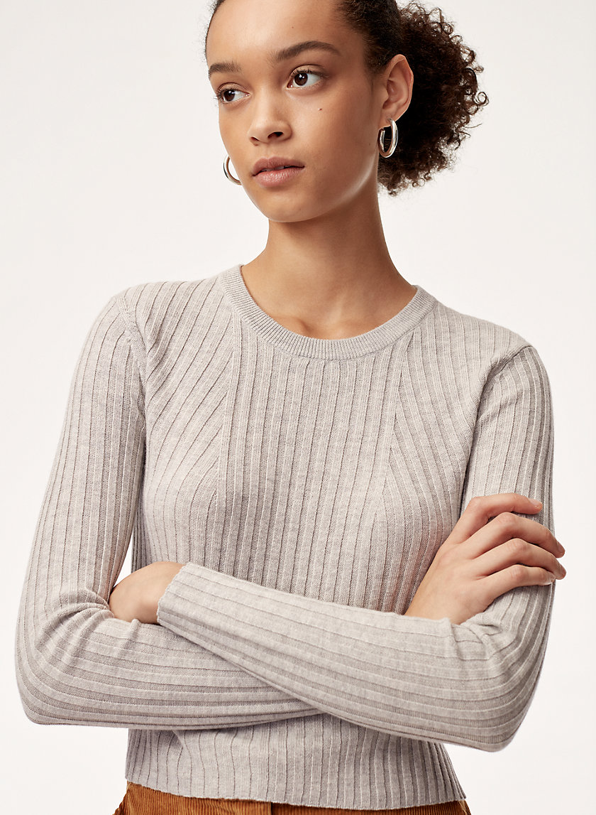 NATHANIEL SWEATER - Cropped, fitted ribbed sweater