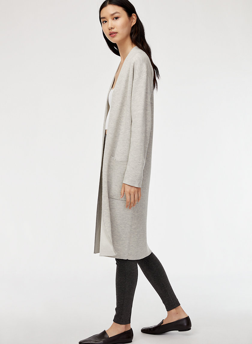 LANCE CARDIGAN - Double-faced, wool-blend cardigan