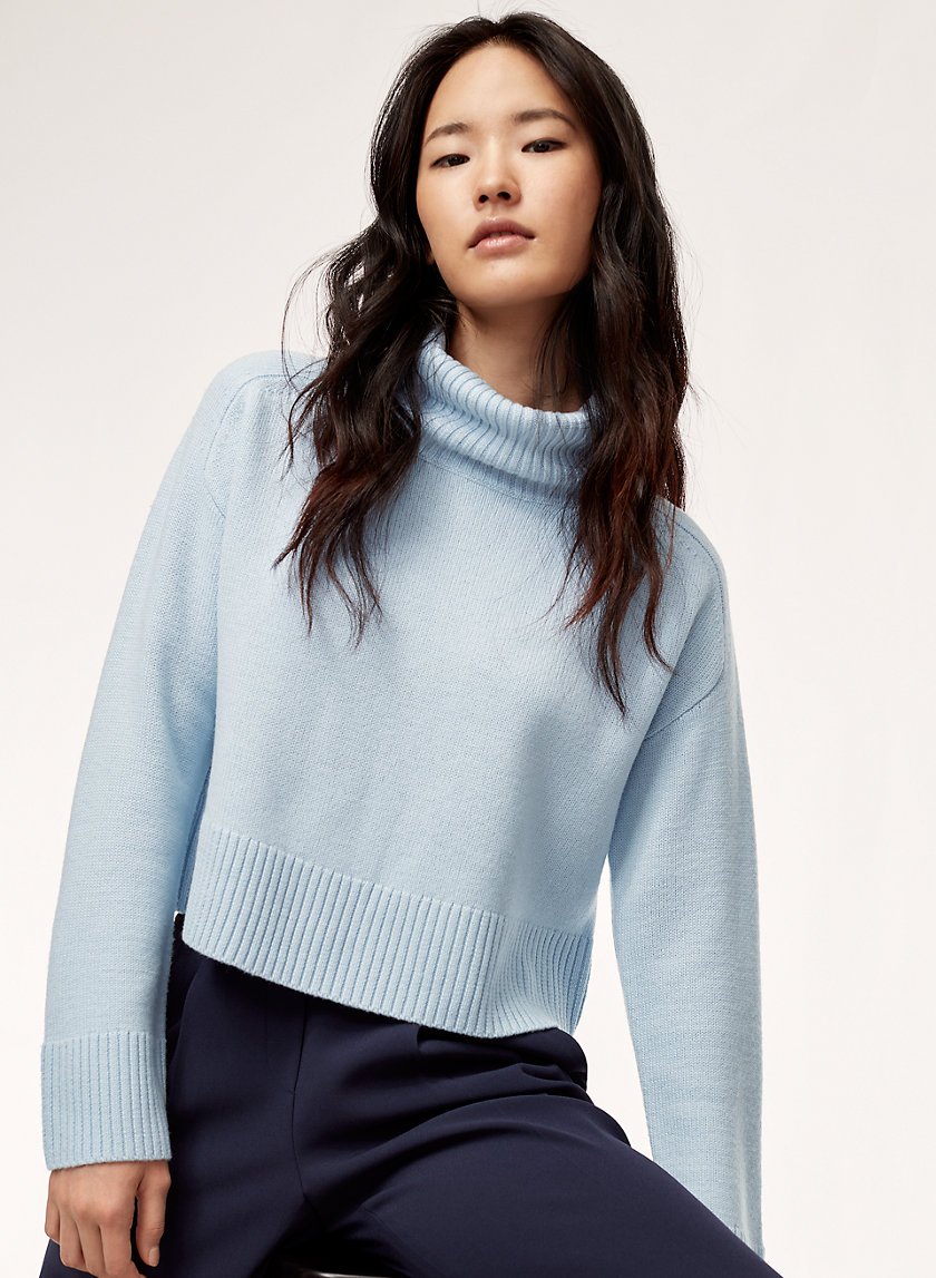 TITUS SWEATER - Cropped turtleneck sweater