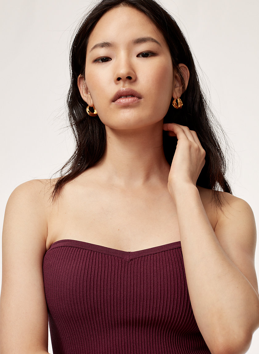 OLAF TUBE TOP - Sweetheart-neck, knit tube top