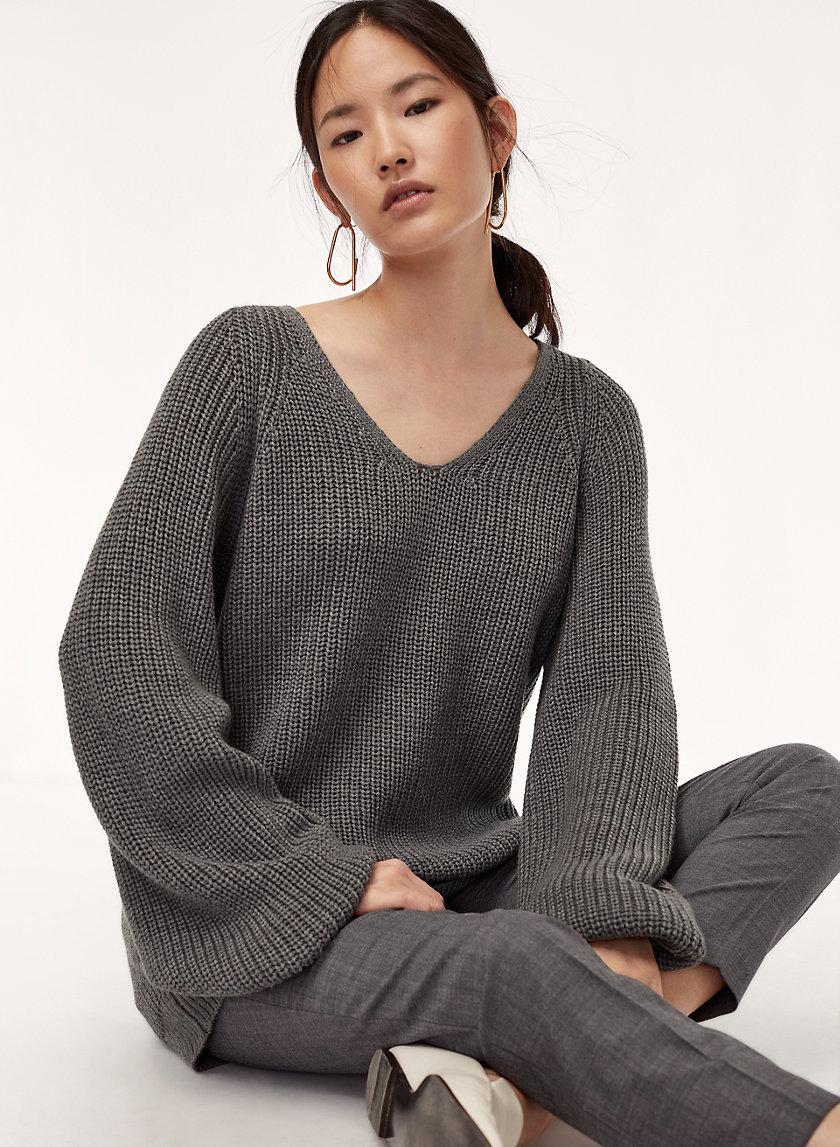 VALADON SWEATER - Merino-wool V-neck sweater