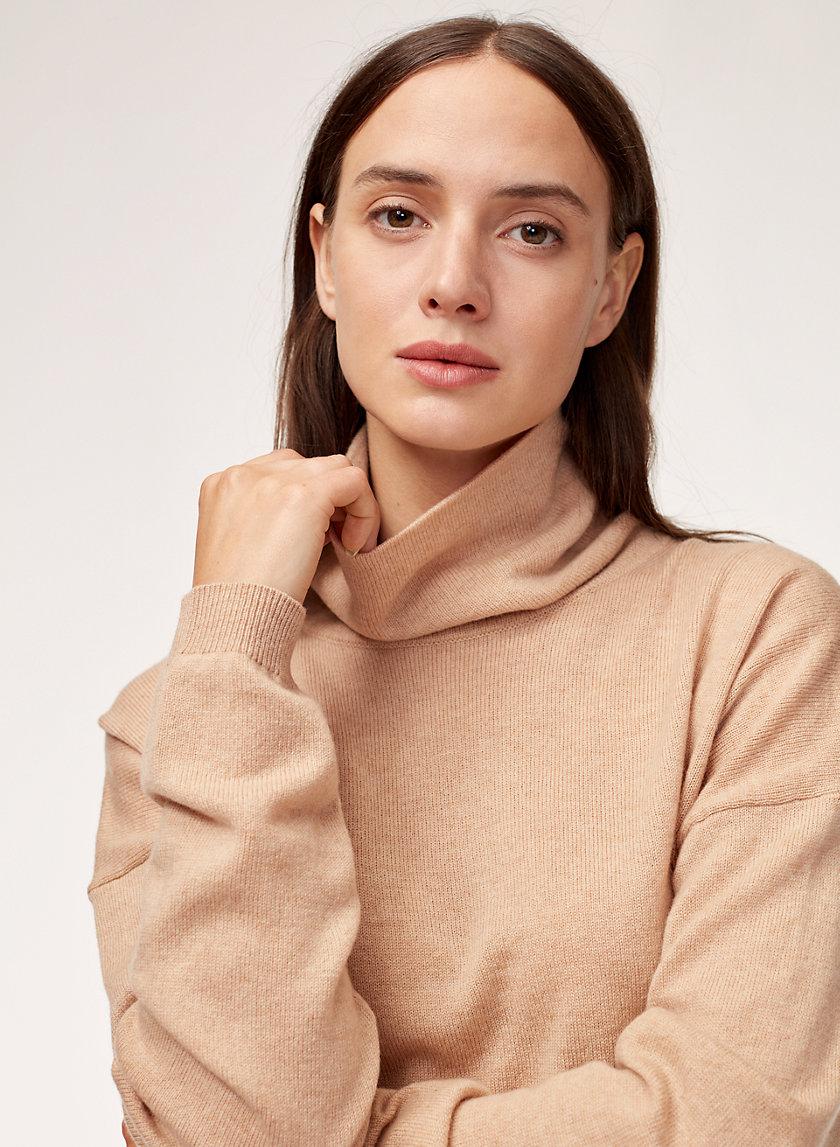 ABIE SWEATER - Wool-cashmere turtleneck sweater