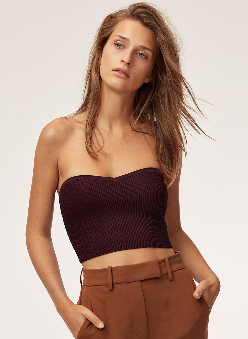 Babaton OLAF TUBE TOP CROPPED | Aritzia
