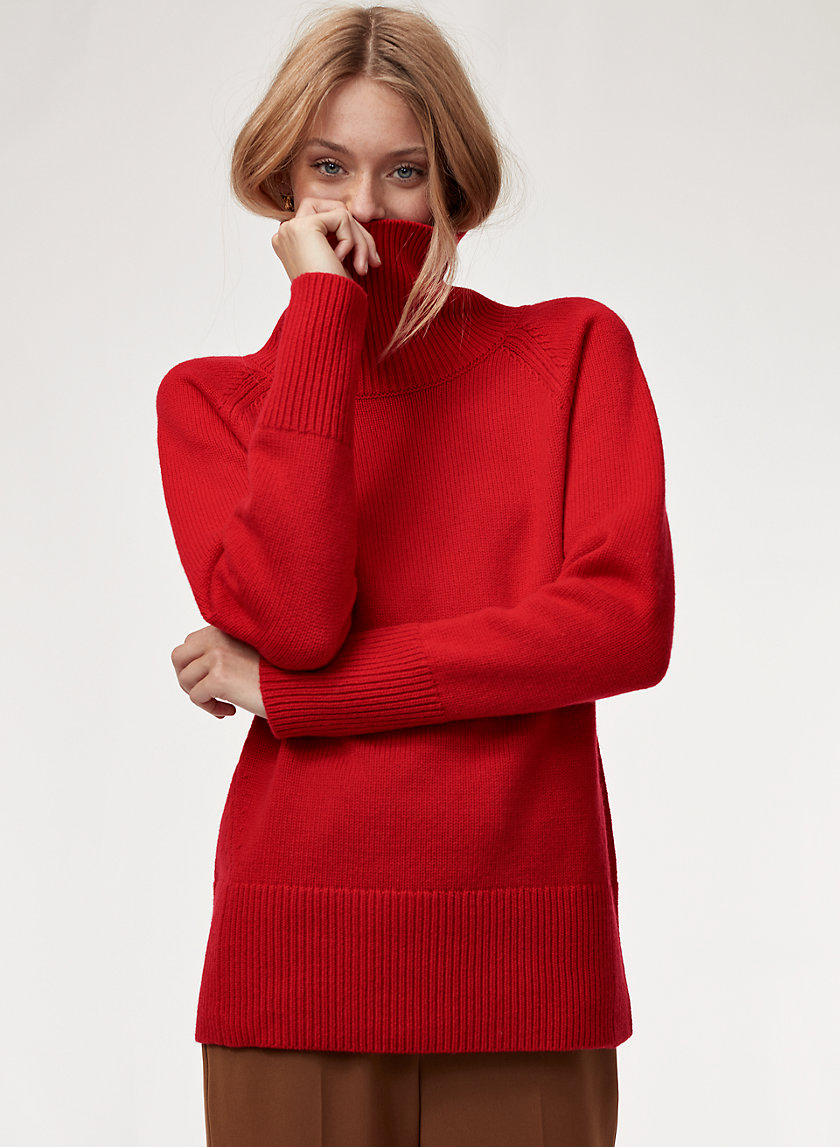 NICOLAS SWEATER - Wool-cashmere turtleneck sweater