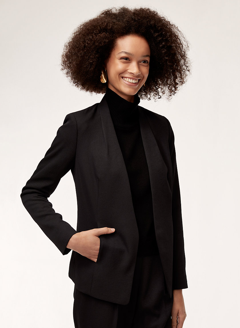 KEITH JACKET - Collarless tailored blazer