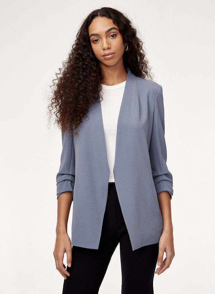 MACAULEY BLAZER - 3/4 rolled sleeve blazer