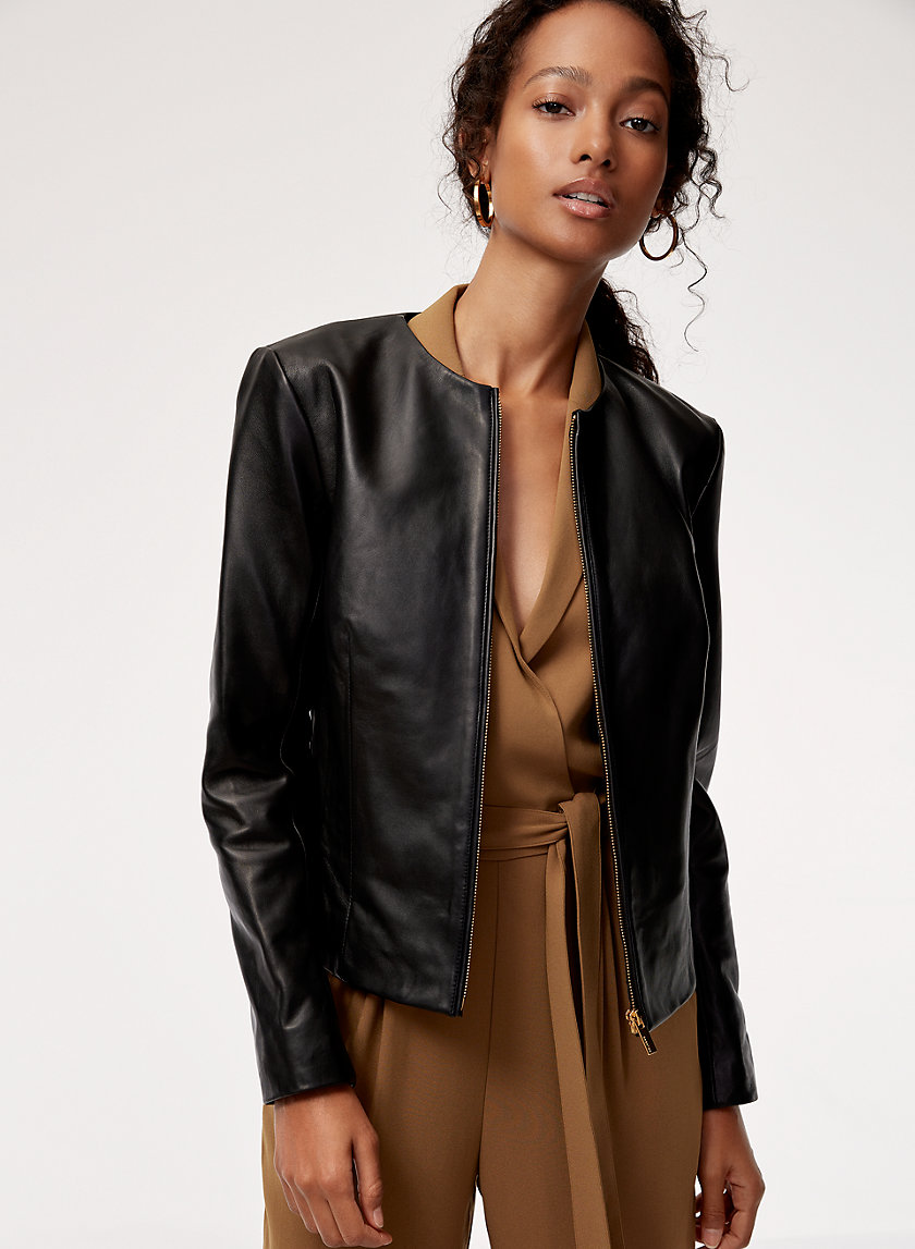 Babaton JETT LEATHER JACKET | Aritzia