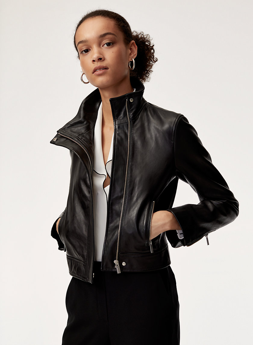 Babaton JAGGER LEATHER MOTO | Aritzia